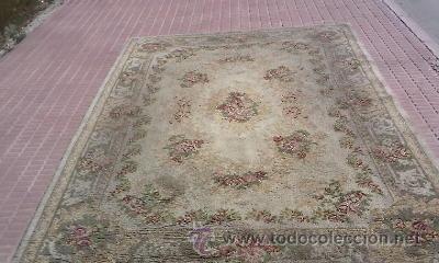 Preciosa alfombra de sal n de lana blanca con p vendido - Alfombras pequenas ...