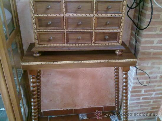 Antigüedades: bargueño de nogal - Foto 2 - 35363798