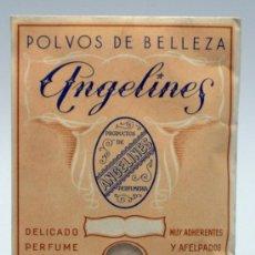 Antigüedades: SOBRE POLVOS DE BELLEZA ANGELINES S GÓMEZ MADRID AÑOS 40 NUEVO SIN USO. Lote 50543130