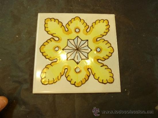 AZULEJO ESTRELLA (Antigüedades - Porcelanas y Cerámicas - Azulejos)