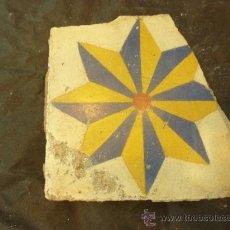 Antigüedades: AZULEJO ESTRELLA. Lote 37689929
