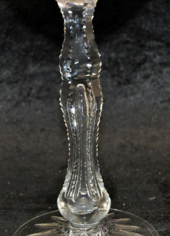 Antigüedades: GRAN COPA EN CRISTAL TALLADO A LA MUELA CON TONOS AZULES. CIRCA 1940 - Foto 5 - 37794936