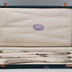Antiquités: ESTUCHE CON JUEGO PARA CALZAR BOTINES CALZADOR DE LUIS ESPUÑES AÑOS 20 30. Lote 37718243