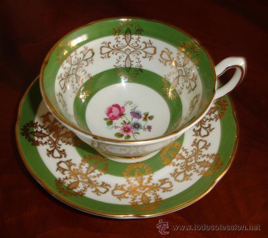 TAZA Y PLATO PORCELANA ROYAL ALBERT (Antigüedades - Porcelanas y Cerámicas - Inglesa, Bristol y Otros)