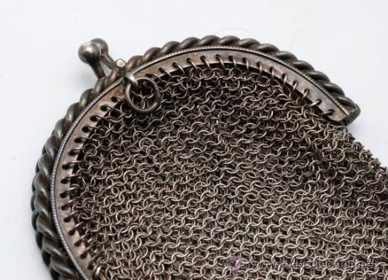 Antigüedades: Monedero rejilla en plata de ley finales S XIX - Foto 3 - 37719693