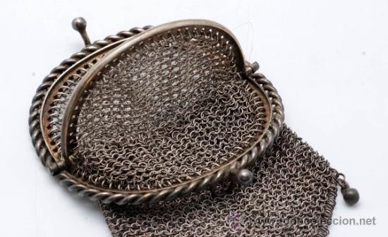 Antigüedades: Monedero rejilla en plata de ley finales S XIX - Foto 4 - 37719693