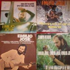 Discos de vinilo: 4 SINGLES DE EMILIO JOSE. Lote 37727001