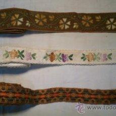 Antigüedades: RIBETE ANTIGUOS. 3 UNIDADES DE 170, 285 Y 345 CM. LONGITUD. MAS CAJA DE OBSEQUIO. Lote 37727222