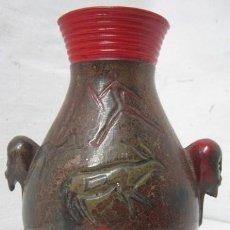 Antigüedades: JARRÓN ALTAMIRA ESCENAS RUPESTRE BICEFALA 2 CABEZAS CERÁMICA. Lote 37729044