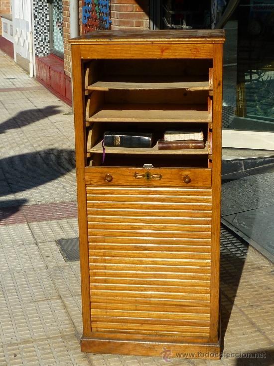 Mueble archivador persiana comprar mesas de despacho antiguas en todocoleccion 37733769 - Persianas para muebles ...
