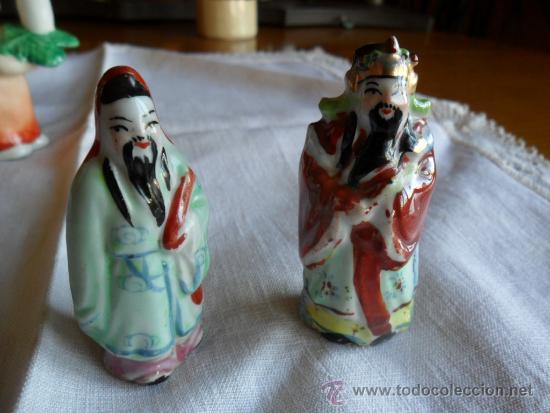 PAREJA DE FIGURAS DE PORCELANA CHINA (Antigüedades - Porcelanas y Cerámicas - China)