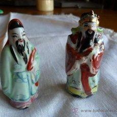 Antigüedades: PAREJA DE FIGURAS DE PORCELANA CHINA . Lote 37733851