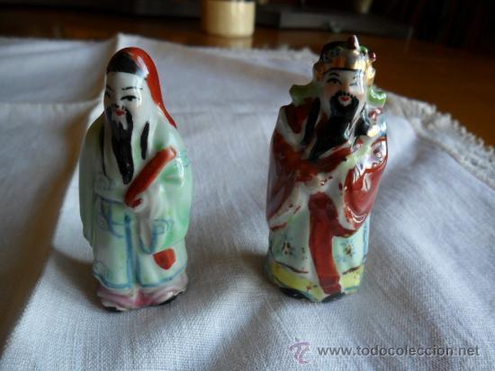 Antigüedades: PAREJA DE FIGURAS DE PORCELANA CHINA - Foto 2 - 37733851