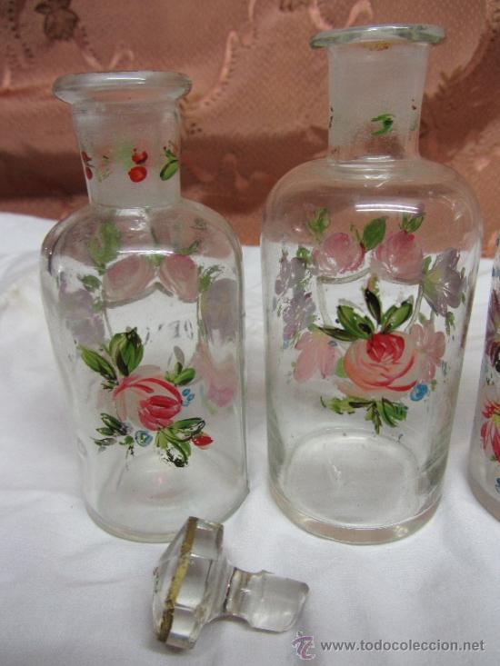Antigüedades: Precioso juego de 4 frasquitos de perfume HOUBIGANT CHARDIN / Hacia 1845 - Foto 3 - 38210429