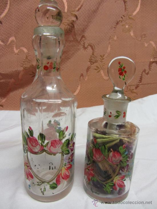 Antigüedades: Precioso juego de 4 frasquitos de perfume HOUBIGANT CHARDIN / Hacia 1845 - Foto 4 - 38210429
