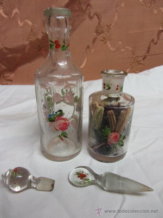 Antigüedades: Precioso juego de 4 frasquitos de perfume HOUBIGANT CHARDIN / Hacia 1845 - Foto 5 - 38210429
