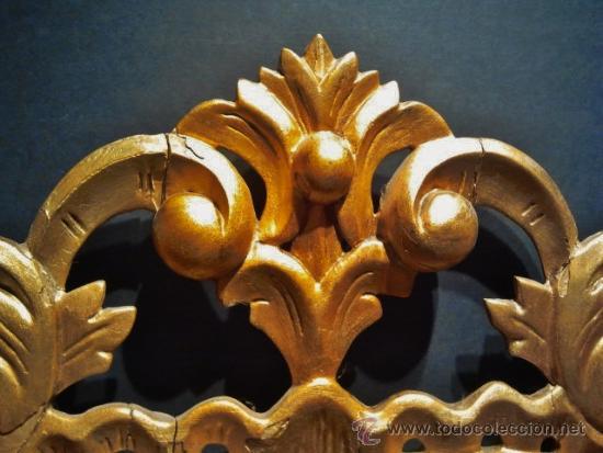 Antigüedades: Bonito espejo cornucopia. Madera tallada y dorada. - Foto 2 - 104562930