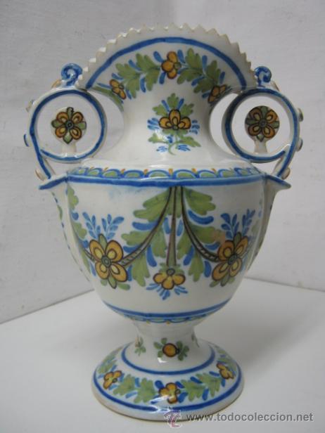 Antigüedades: 28.5 cm - Antiguo jarron Manises - firmado Gimeno y numerado - Foto 2 - 37758109