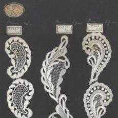 Antigüedades: NEUBURGER TEXTURES - MUESTRARIO DE ENCAJE SUIZO. Lote 37758967