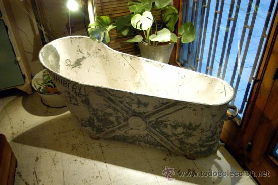 Antigua ba era de zinc cinc francesa comprar for Baneras antiguas precios