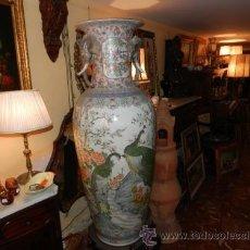 Antigüedades: ANTIGUO JARRÓN CHINOS DE PORCELANA ORIGINAL PIEZA IMPRESIONANTE. Lote 37767095