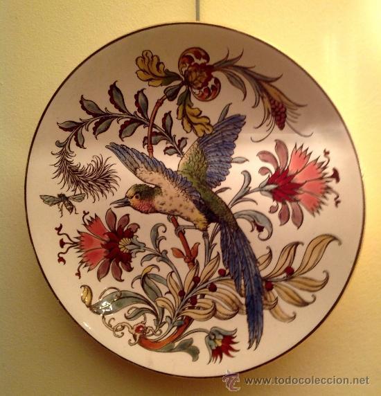 GRAN PLATO ANTIGUO DE PORCELANA / MODERNISTA 1890 (Antigüedades - Hogar y Decoración - Platos Antiguos)