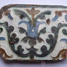 Antigüedades: AZULEJO ANTIGUO DE TOLEDO / SEVILLA . TECNICA DE ARISTA. RENACIMIENTO. MEDIADOS S/XVI.. Lote 37772799