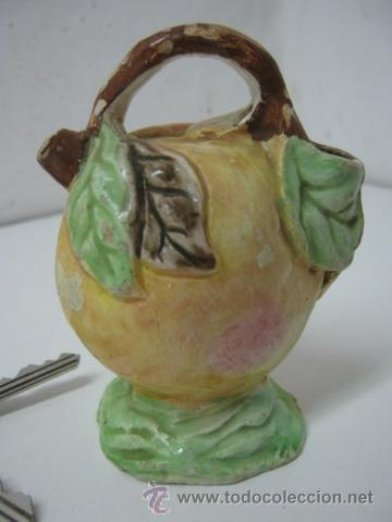 ANTIGUO BOTIJO PEQUEÑO CERÁMICA MANISES (Antigüedades - Porcelanas y Cerámicas - Manises)