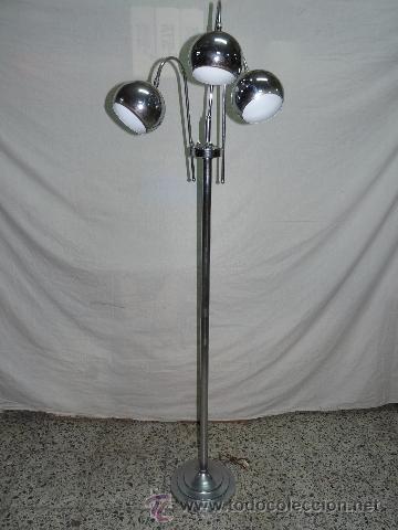 ANTIGUA LÁMPARA DE ACERO INOXIDABLE. (Antigüedades - Iluminación - Lámparas Antiguas)