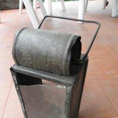 Antigüedades: ANTIGUO FAROL ALEMAN DE TREN O MILITAR - CRISTAL REPARADO!. Lote 37806967