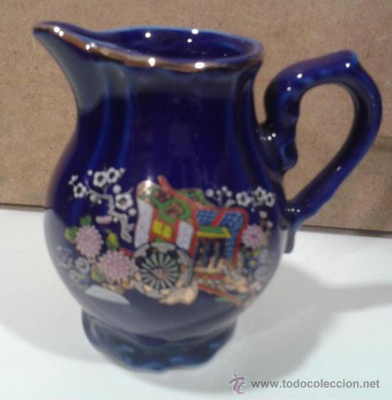 Antigüedades: Juego café EIHO Grade A azul - Porcelana japonesa - Foto 4 - 37807539
