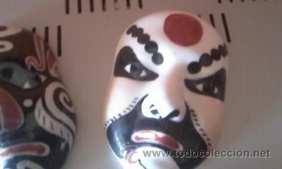 Antigüedades: Preciosas mascaras de porcelana chinas, Mascaras de la opera china. - Foto 2 - 37808468