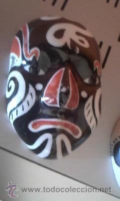 Antigüedades: Preciosas mascaras de porcelana chinas, Mascaras de la opera china. - Foto 3 - 37808468