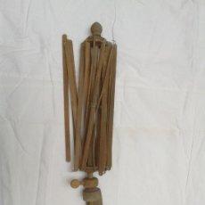 Antigüedades: ANTIGUA SOMBRILLA O PARAGUAS DE MADERA PARA RESTAURAR. Lote 37831841