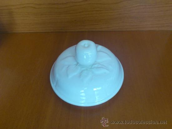 Antigüedades: Azucarero antiguo de loza blanca vidriada ( SAN CLAUDIO ) - Foto 10 - 37834904