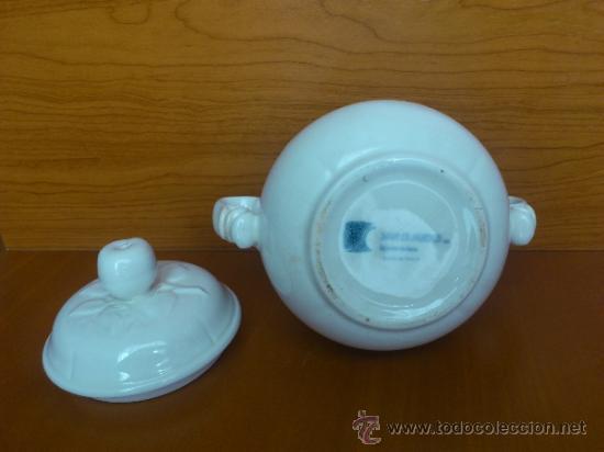 Antigüedades: Azucarero antiguo de loza blanca vidriada ( SAN CLAUDIO ) - Foto 23 - 37834904