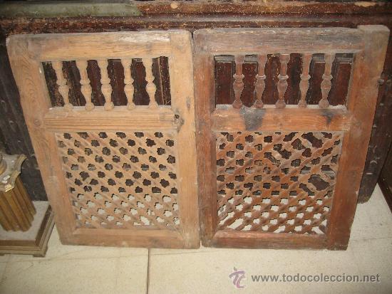 2 puertas antiguas de madera para armario o al comprar - Restaurar puertas antiguas ...