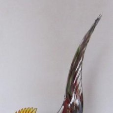 Antigüedades: FIGURA GALLO EN CRISTAL DE MURANO. Lote 37855679