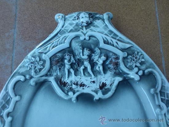 Antigüedades: Magnifica bandeja de porcelana antigua ( PEREIRAS VALADO ) PORTUGAL años 60/70 - Foto 3 - 37860335