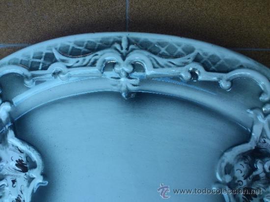 Antigüedades: Magnifica bandeja de porcelana antigua ( PEREIRAS VALADO ) PORTUGAL años 60/70 - Foto 4 - 37860335