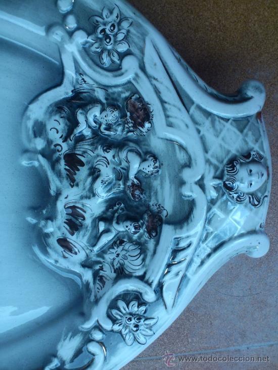 Antigüedades: Magnifica bandeja de porcelana antigua ( PEREIRAS VALADO ) PORTUGAL años 60/70 - Foto 5 - 37860335