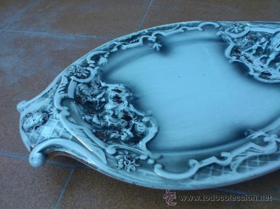 Antigüedades: Magnifica bandeja de porcelana antigua ( PEREIRAS VALADO ) PORTUGAL años 60/70 - Foto 8 - 37860335