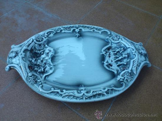 Antigüedades: Magnifica bandeja de porcelana antigua ( PEREIRAS VALADO ) PORTUGAL años 60/70 - Foto 10 - 37860335