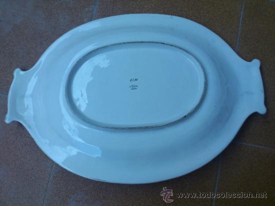 Antigüedades: Magnifica bandeja de porcelana antigua ( PEREIRAS VALADO ) PORTUGAL años 60/70 - Foto 6 - 37860335