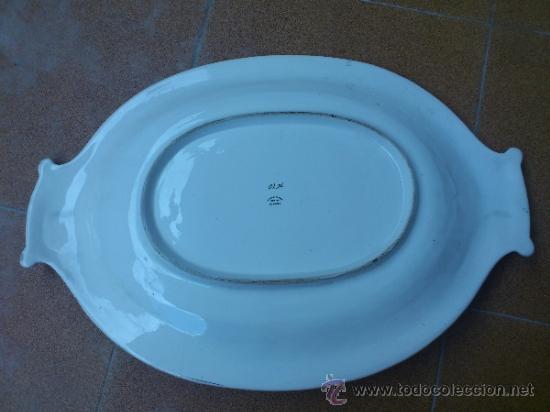Antigüedades: Magnifica bandeja de porcelana antigua ( PEREIRAS VALADO ) PORTUGAL años 60/70 - Foto 12 - 37860335