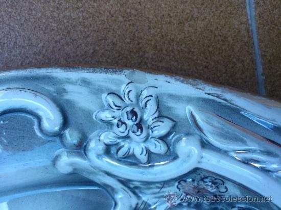 Antigüedades: Magnifica bandeja de porcelana antigua ( PEREIRAS VALADO ) PORTUGAL años 60/70 - Foto 13 - 37860335