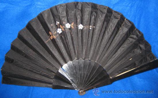 Antigüedades: ABANICO DE MADERA. PINTADO A MANO. 60 X 33 CM. - Foto 5 - 37872944