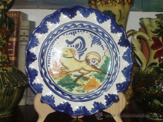 PLATO CERÁMICA TRIANA, SEVILLA /// (Antigüedades - Porcelanas y Cerámicas - Triana)