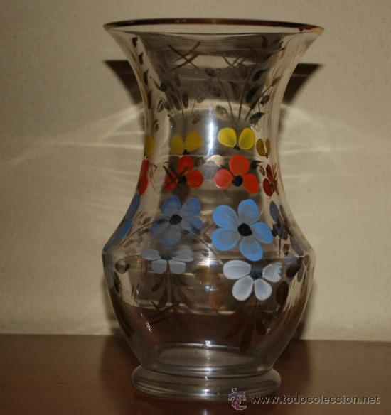 ANTIGUO JARRON CRISTAL DE LA GRANJA (Antigüedades - Cristal y Vidrio - La Granja)