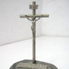 Antigüedades: ANTIGUO CRUCIFIJO DE DESPACHO - RECORD DE MONTSERRAT. Lote 133603489